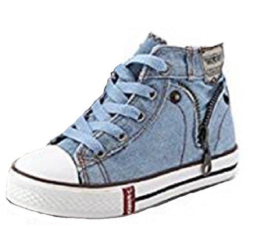 Koo-T - Zapatillas de Lona para niño azul claro