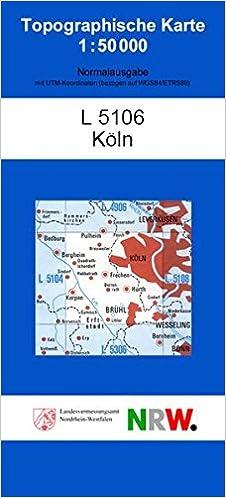 Topographische Karte Nrw.Köln N Topographische Karten 1 50000 Tk 50 Nordrhein Westfalen