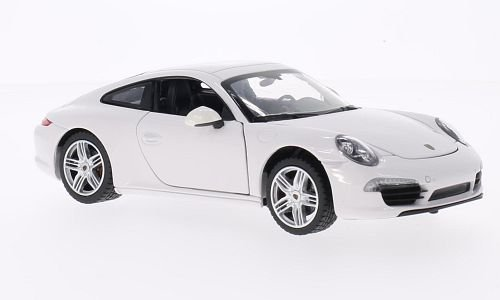 Porsche 911 Carrera S, white, Model Car, Ready-made, Rastar 1:24 Porsche 911 Motor