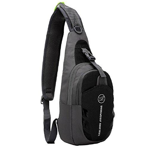 Shubb - mochila multifuncional, frontal, de pecho, impermeable, color negro, tamaño talla única Negro - negro