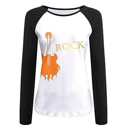 - SESY 3D Print Musical Symbols Guitar Long Sleeve Shirt Womens Athletic Baseball Shirt.