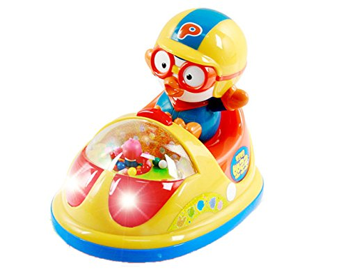 Pororo Bumper car, 12 of songs, Batteries included, Baby - Mail International Priority Usps