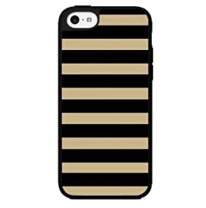 Black and Tan Stripes Hard Snap on Case (iPhone 5c) by lolosakes