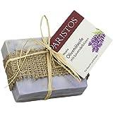 ARISTOS Olivenölseife mit Lavendel Blüten | Griechenland | für empfindliche Haut (1x 100 g)