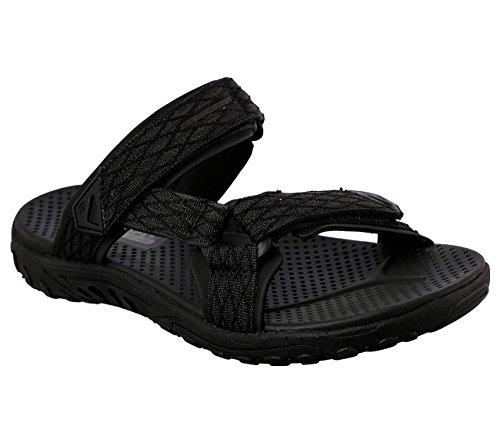 Skechers Open Black 65465 Lifestyle Men's Sandal Back Strap rqP7r1F