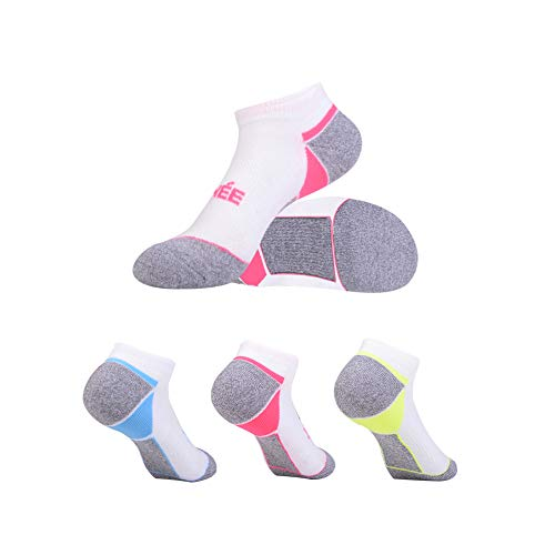 - Women's 6-Pairs Low Cut Ankle Athletic Socks with Cushion for Sports and Casual Use