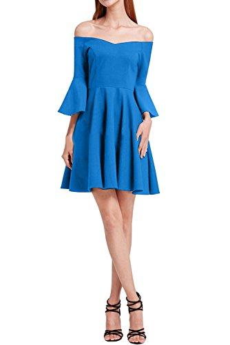 Festkleid Promkleid Partykleid Ivydressing Damen Chiffon Modern Linie Abendkleid Blau A U Ausschnitt 446fU8xgz