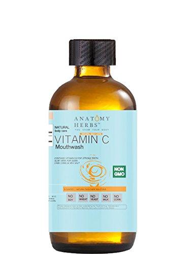 Mega Vitamin C Mouthwash,(Healthy Gums and Teeth) Plant Based Antiseptic