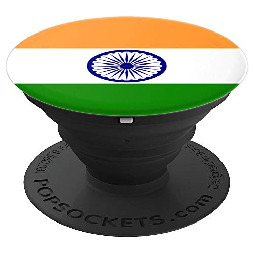 India Patriotism Inspired Indian Flag Design - PopSockets Grip and Stand for Phones and Tablets