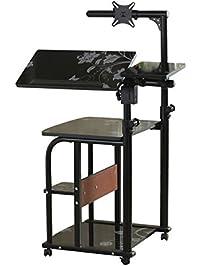 ejoy mobile u0026 compact computer cart computer desk pc laptop table workstation home