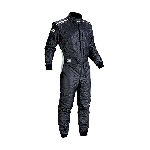 OMP IA0183707160 One S Racing Suit, Black, Size 60