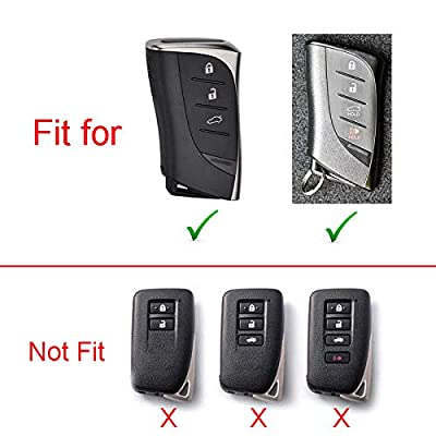 Royalfox(TM) 3 4 Buttons Soft TPU Smart keyless Remote Key Fob case Cover Shell Keychain for 2020 2020 2020 Lexus UX200 LS500 LS500H LC500 LC500h ES300h ES350 HYQ14FBA-0440 (red)
