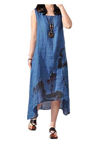 ink print maxi dress - 9