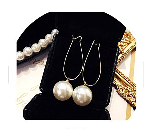 Hot Simple Green Circle Small Fresh Girl Earrings Female Character Good Quality Pendant Earrings,Pearl Style ()
