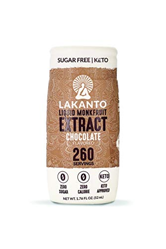 Lakanto Liquid Monkfruit Extract Sweetener | Zero Calories | Chocolate Flavor (1.85 oz/1.76 fl oz) ()