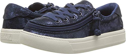BILLY Footwear Kids Baby Girl's Classic Lace Low (Toddler/Little Kid/Big Kid) Navy Metallic 1 M US Little Kid M