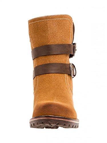 CASPAR Fashion Botas Para Mujer Marrón Beige Camel PPOj8cB
