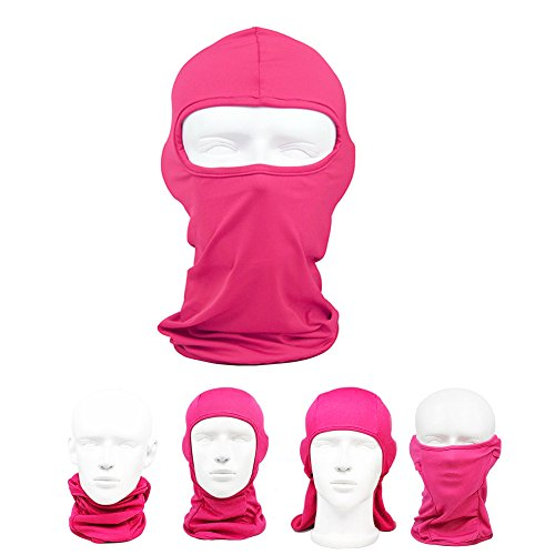 Face Ski Mask , Women & Mens Winter Motorcycle Gear Full Head Helmet ,  Cold Weather Tactical Thermal Windproof Neck Warmer For Running , Snowboarding , Cycling , Biking , Climbing , Training  Pink