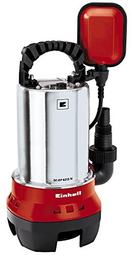 Einhell GC-DP 6315 N - Bomba de aguas sucias (630W, máx. 17.000 l/h, profundidad max. de inversión 5m, conexión de manguera 47.8mm, cuerpos extraños hasta 15 mm) (ref.4170491)