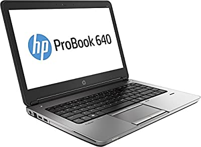 "2017 HP EliteBook 640 G1 14"" HD Anti-Glare Notebook Laptop, Intel Core I5-4300M Up to 3.3GHz, 8GB RAM, 128GB SSD, DVDRW, USB 3.0, Bluetooth, Webcam, Windows 10 Professional (Certified Refurbished)"