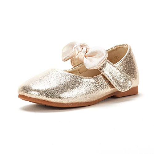 DREAM PAIRS Toddler Belle_02 Gold Girl's Mary Jane Ballerina Flat Shoes Size 8 M US Toddler ()