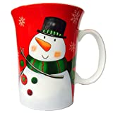 Cool Christmas Mug - Funny Cartoon Snowman - Beautiful Tin Gift Box Included - 12 oz - Best Xmas Gifts Idea for Mom, Dad, Husband, Wife, Boyfriend, Girlfriend, Friend, Coworkers, Family & Kids