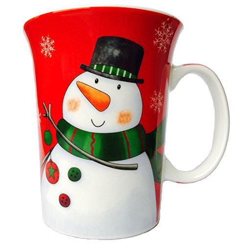 MUGNETIC Cartoon Snowman Christmas Mug with Tin Gift Box, 12-Ounce