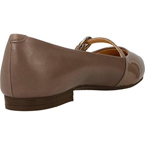 Zapatos bailarina para mujer, color Negro , marca GEOX, modelo Zapatos Bailarina Para Mujer GEOX D RHOSYN Negro marr�n