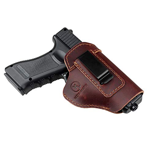Kosibate IWB Leather Holster, Gun Holster for Glock 17 19 22 23 26 / Sig Sauer P226 P229 SP2022 / Springfield XD XDS XDM/S&W M&P Shiedld 9MM