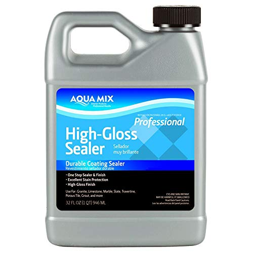 Aqua Mix High Gloss Durable Coating Sealer Quart 32 oz (Concrete Patio Dry Mix)