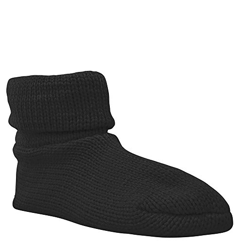 MUK LUKS Cuff Sock Womens Slipper Black hVzE9