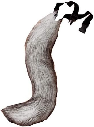 Warm Faux Fur Tail Furry Wolf Dog Fox Puppy Costume Halloween Cosplay Props