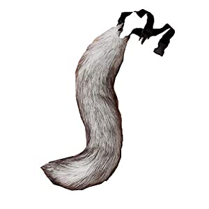 COSFLY Faux Fur Tail for Adult/Teen Furry Wolf Dog Fox Puppy Costume Halloween Party Cosplay Props 19