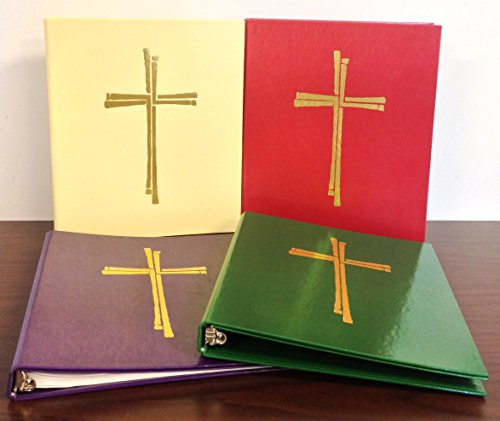 Ceremonial Binder - Series 2 - Set of Four Colors with Gold Cross (1-inch ()