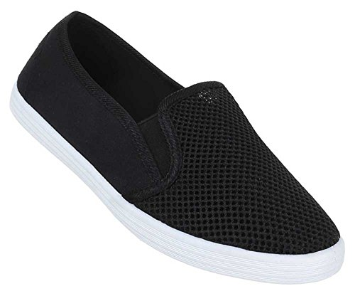Damen Schuhe Slipper Halbschuhe Moderne Sommerschuhe Freizeitschuhe Schwarz