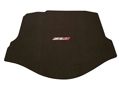 (Lloyd Mats - Classic Loop Ebony Standard Trunk Mat For Camaro ZL1 Coupe 2012-15 with Silver and Red ZL1 Logo)