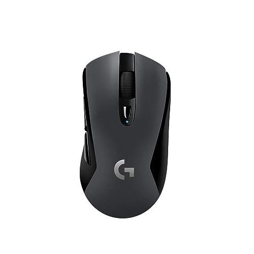 Logitech G603 LIGHTSPEED Ratón Gaming Inalámbrico Bluetooth o 2 4GHz con Receptor USB Sensor HERO 12000 DPI 6 Botónes Programables Memoria Integrada PC Mac Versión Alemana Negro