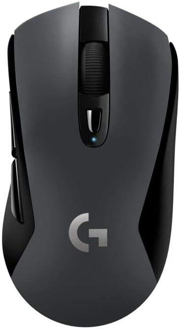 Logitech G603 LIGHTSPEED Ratón Gaming Inalámbrico, Bluetooth o 2.4GHz con Receptor USB, Sensor HERO, 12000 DPI, 6 Botónes Programables, Memoria Integrada, PC/Mac, Versión Alemana, Negro