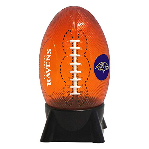 NFL Baltimore Ravens Football Shaped Night - Baltimore Night Light Ravens