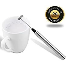 Milk Frother, CUSIBOX Handheld Electric Milk Frother Foam Maker Drink Mixer for Latte, Coffee, Cappuccino, Hot Chocolate