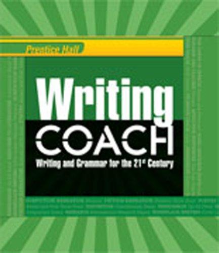 Writing Coach - WRITING COACH 2012 STUDENT EDITION GRADE 12