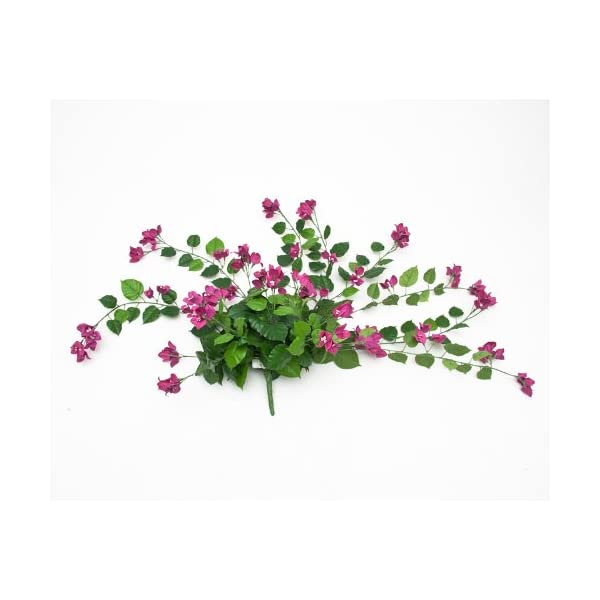 Windowbox 36in. Artificial Bougainvillea-Purple-fire Retardant