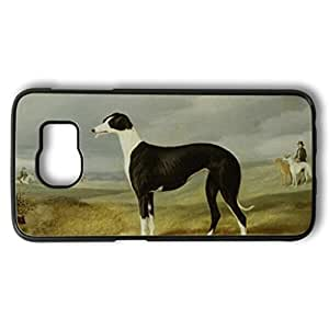 iCustomonline A Greyhound in an Open Landscape Designed PC Black for Samsung Galaxy S6 Case Cover Skin
