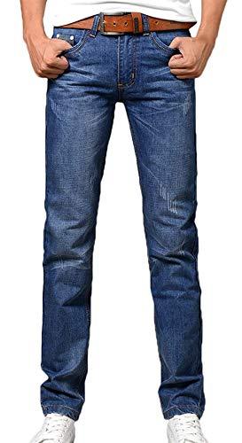 Lunghi In A Pantaloni Taglio Dritto Denim Base Regular Uomo Fit Bermuda Dritti Dritta Di Hellblau Slim Gamba Jeans fAwz8dqx8