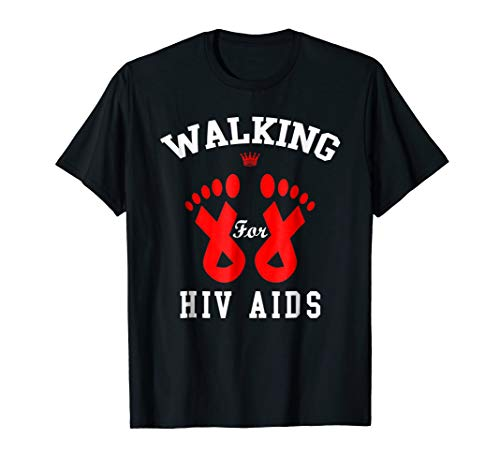 walk for hiv aids awareness t shirt gift world aids day ()