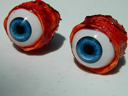 (Pair of Realistic Life size Bloody Eye Poppers for Masks or Skulls - Halloween props - FB011)