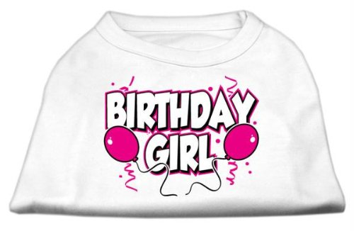 Mirage Pet Products 20-Inch Birthday Girl Screen Print Shirts, 3X-Large, White from Mirage Pet Products