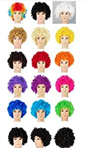 Clown Fans Carnival Wig Cosplay Circus Funny Fancy Dress Stage Do Fun Joker Costume Afro Curly Hair Wig Party Props Multi
