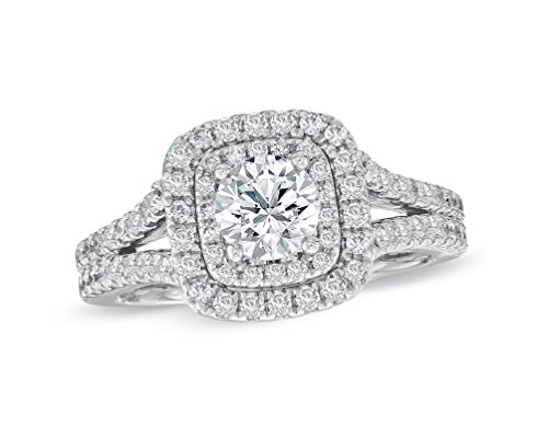 wedding rings white gold diamond - 6