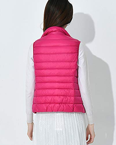 Coat Collar Vest Stand Lightweight Jacket Rose Sleeveless Winter Warm Women Packable YqgI8Pf